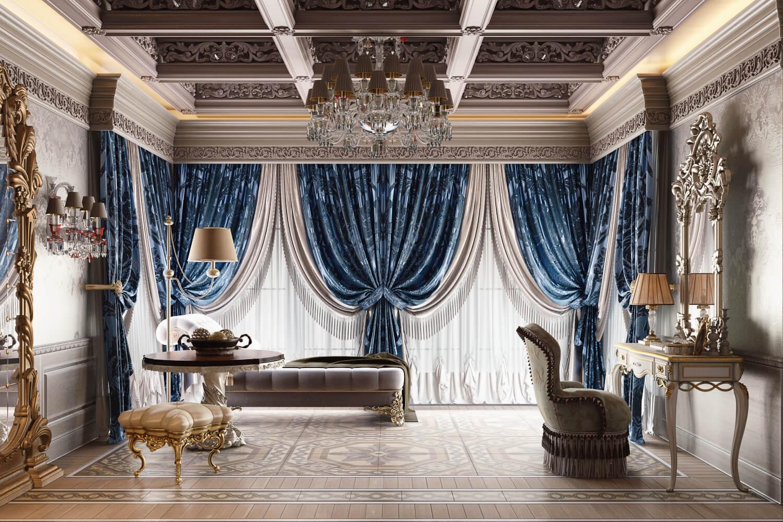 Master Bedroom 3D Rendering for Interior Design Presentation View03