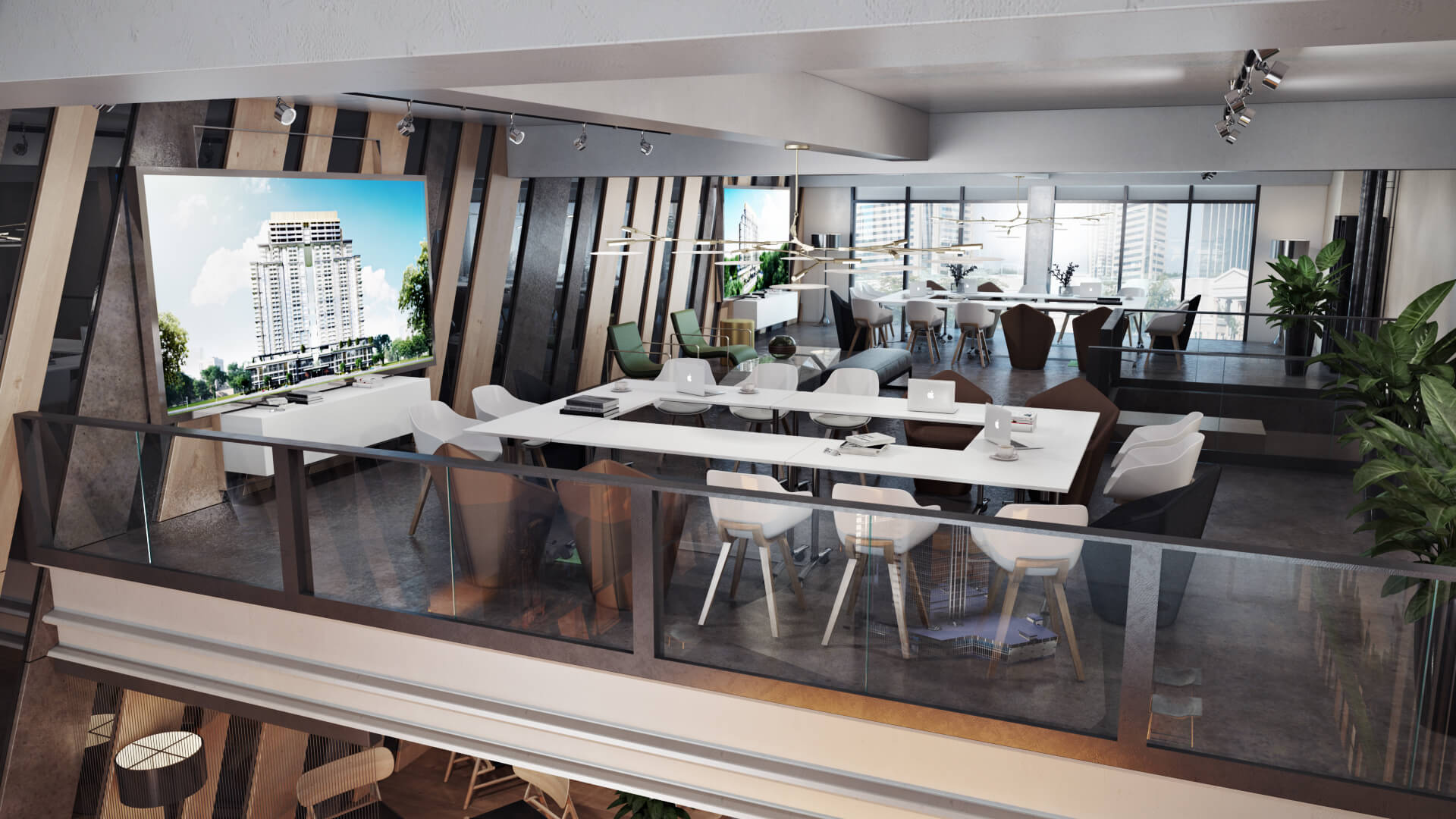 Photorealistic 3D Rendering for a Chic Office Design