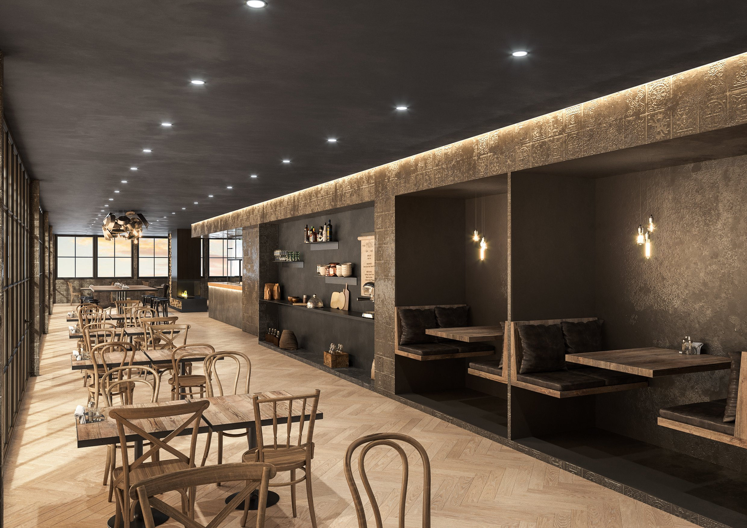 Restaurant 3D Visualization for a Design Project