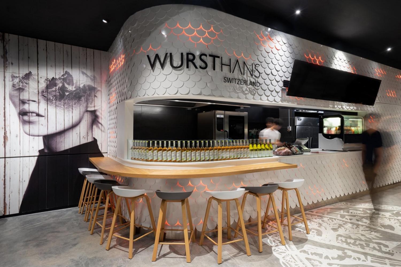 Singaporean Restaurant 3D Rendering