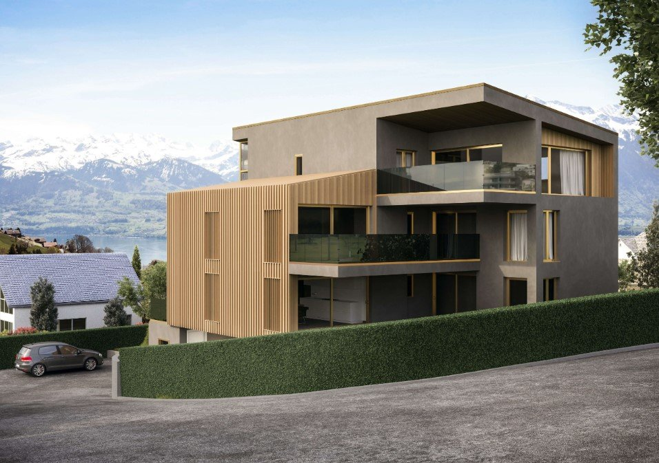 Architectural 3D Visualization for a House in the Mountains