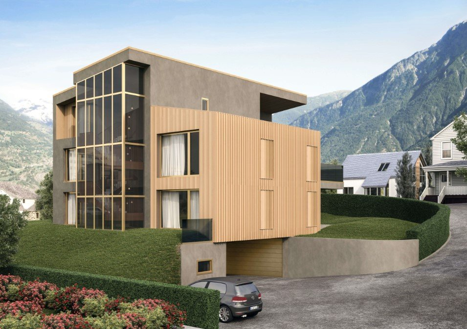 Architectural 3D Rendering for a House in the Mountains