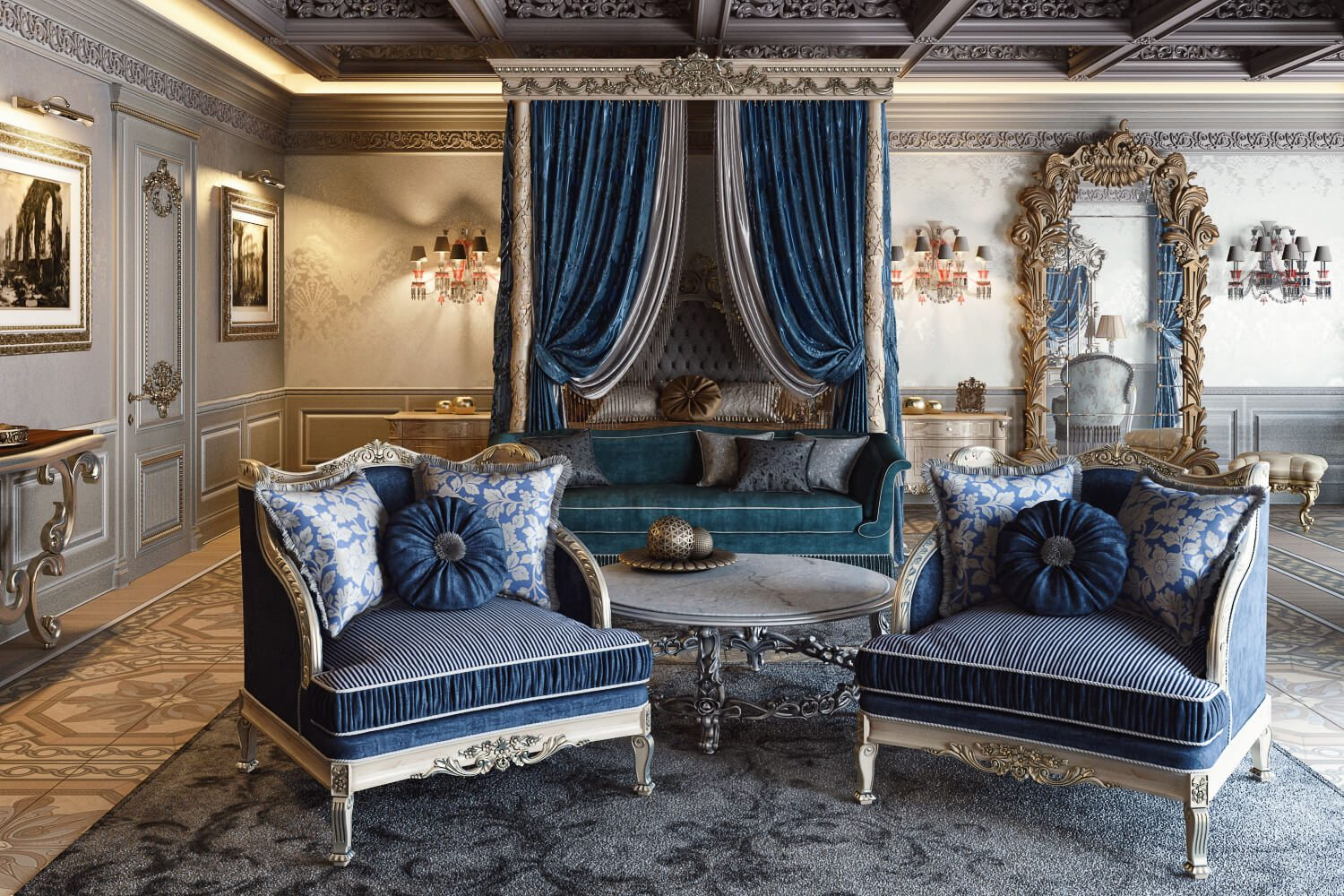 3D Visualization of a Luxury Classic Interior