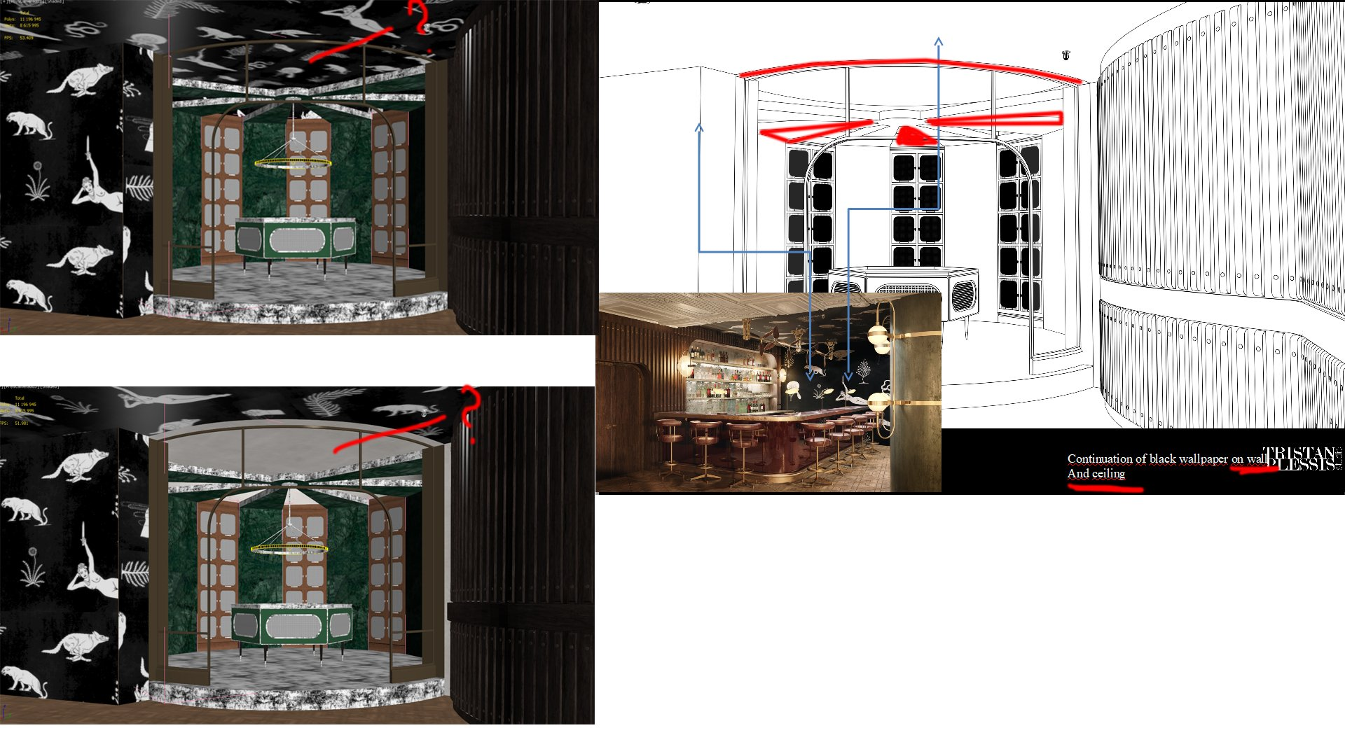 Wine Room 3D Visualization for a Restaurant in Detail