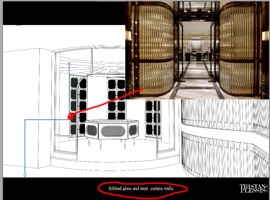 Wine Room Texturing for a Restaurant Design Project