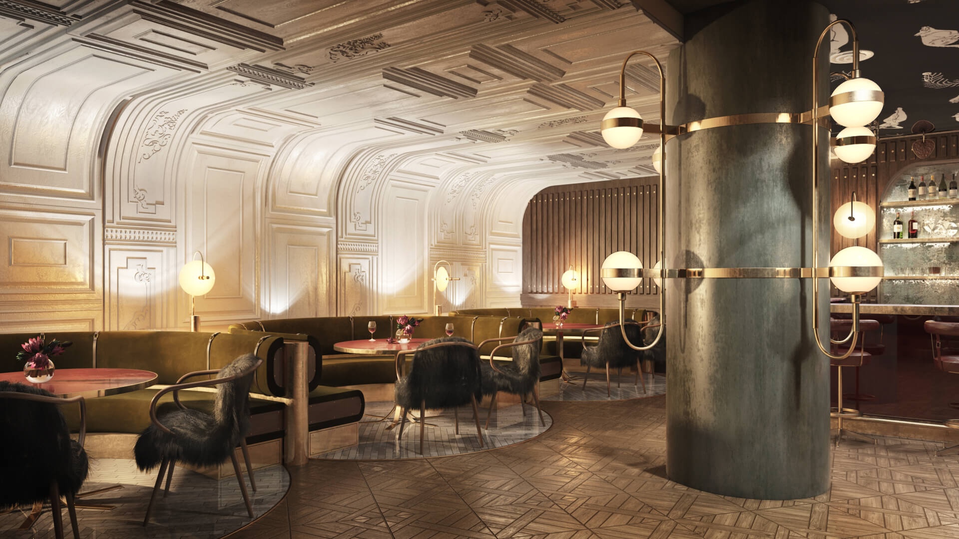 High-Resolution 3D Rendering for a Restaurant Design Project