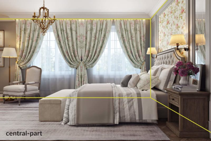 Central Part View Of A Cute Bedroom In The Three-Dimensional Rendering