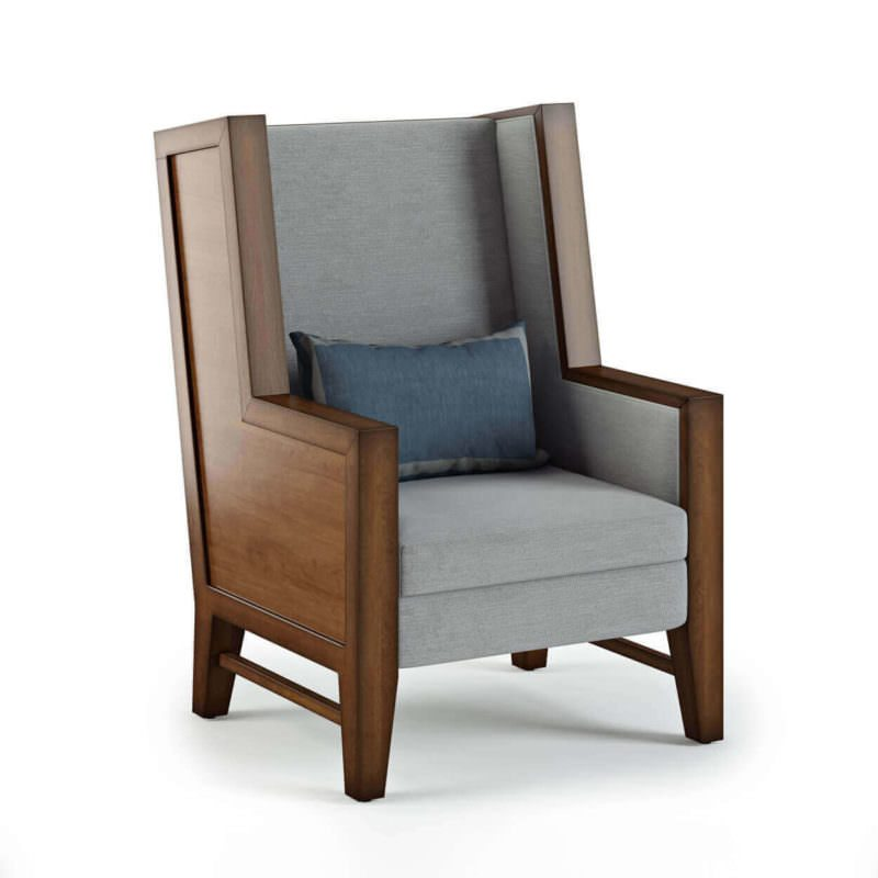 Photoreal 3D Model For Chair Design Created For A Three-Dimensional Rendering
