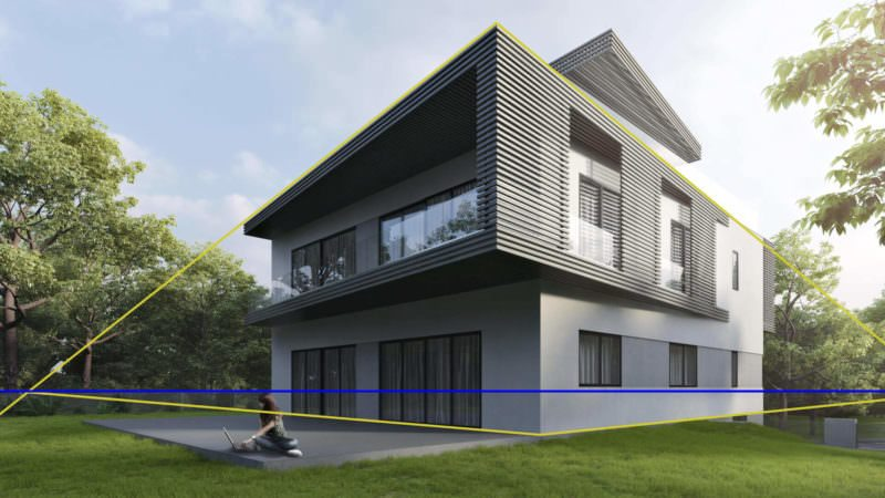 Exterior Design Three-Dimensional Rendering: Two-Point Landing
