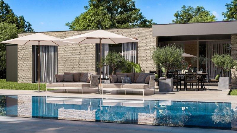3D Visualization of a Fancy Residence External Design