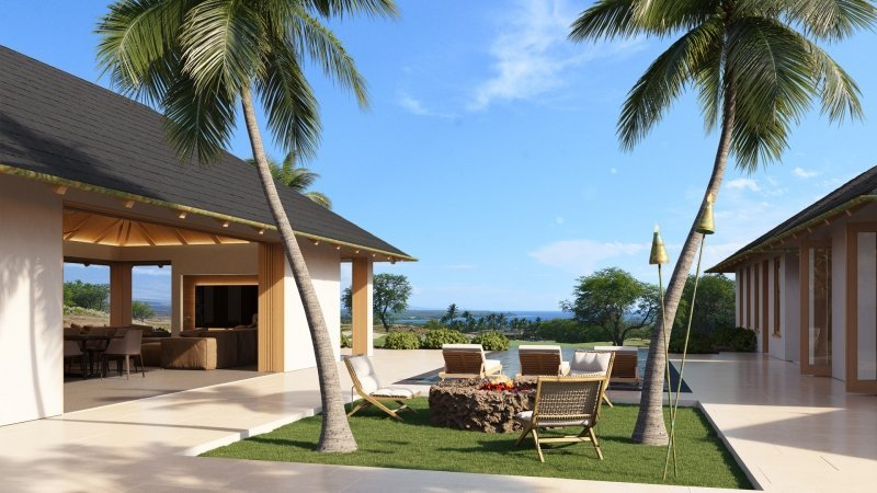 CG Visualization of a Comfortable Villa by the Sea