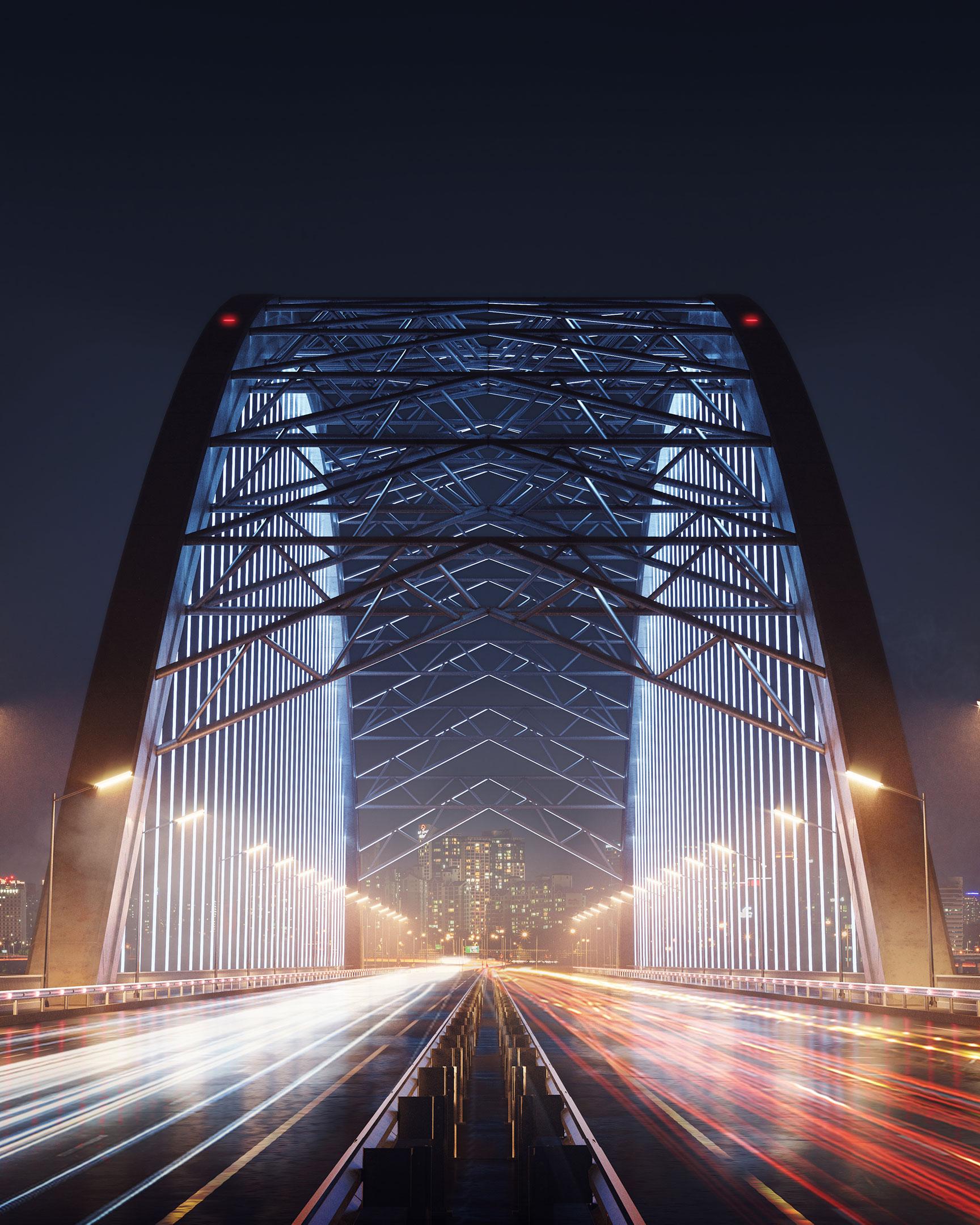 3D Rendering for a Ukrainian Bridge Under Construction