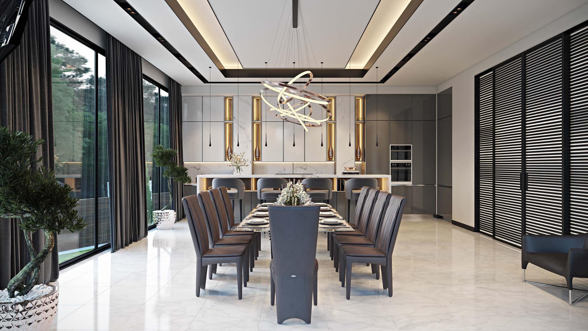 3D Visualization of a Modern Interior Design