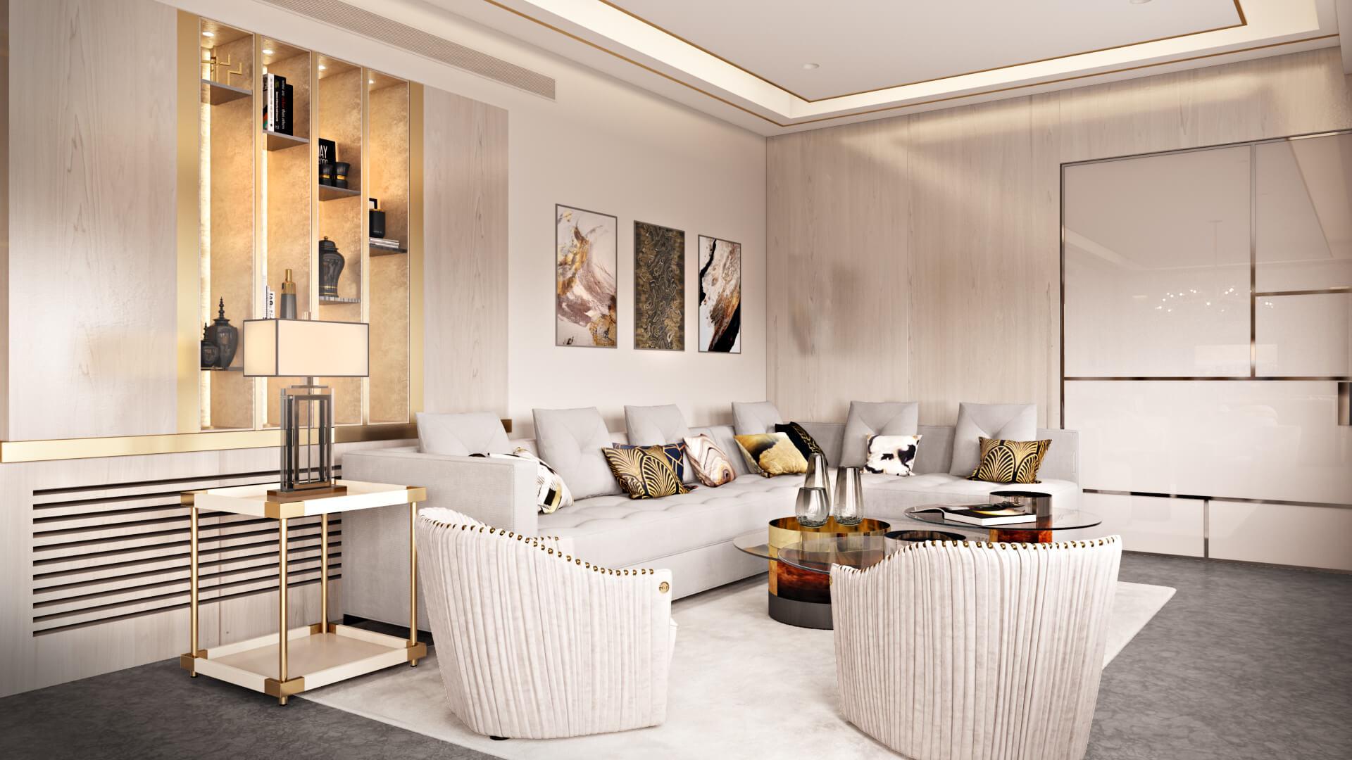 3D Visualization of an Elegant Living Room