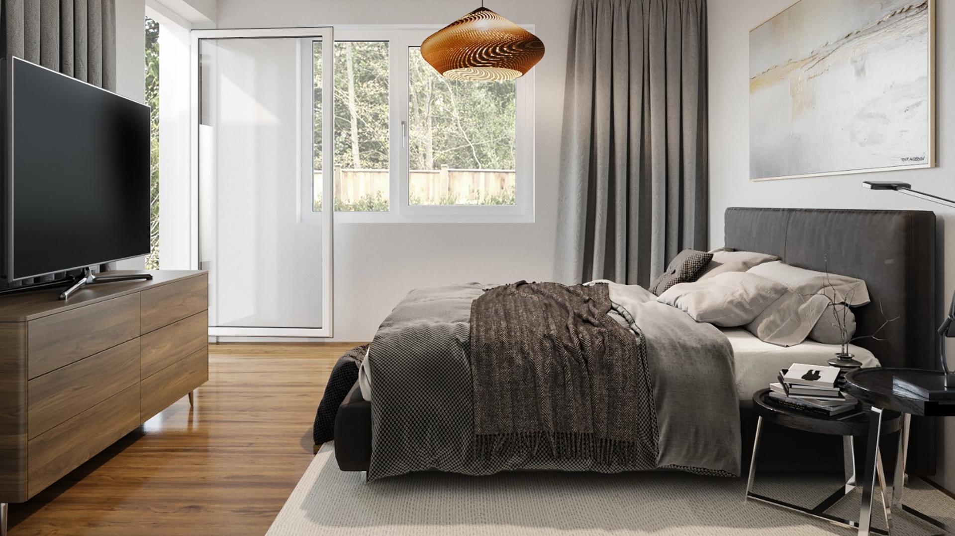 3D Visualization of a Comfortable Bedroom Design