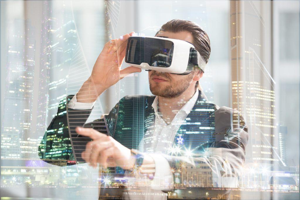 A Person Exploring an Architectural Design Through Virtual Reality