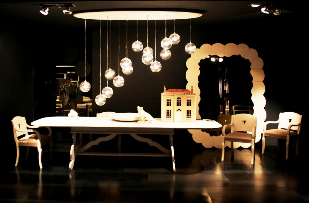 A Showroom with Furniture and Decor Items at a Design Show