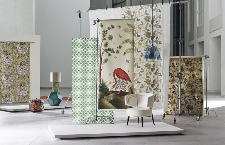 Furniture and Decoration Pieces in a Showroom on an Exhibition