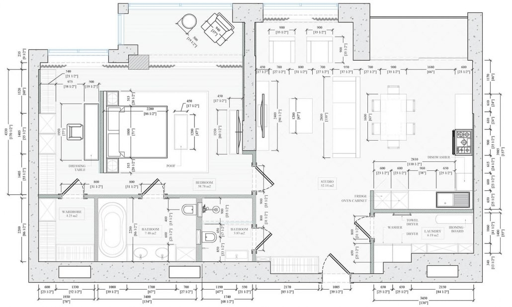 Floor Plans and Drawings Necessary to Start the Work on 3D Office Visualization