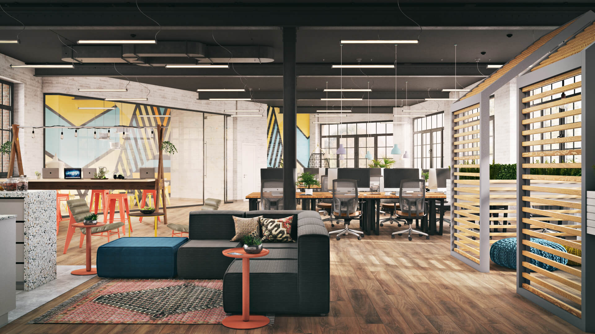 Photoreal Rendering for an Office Space Design