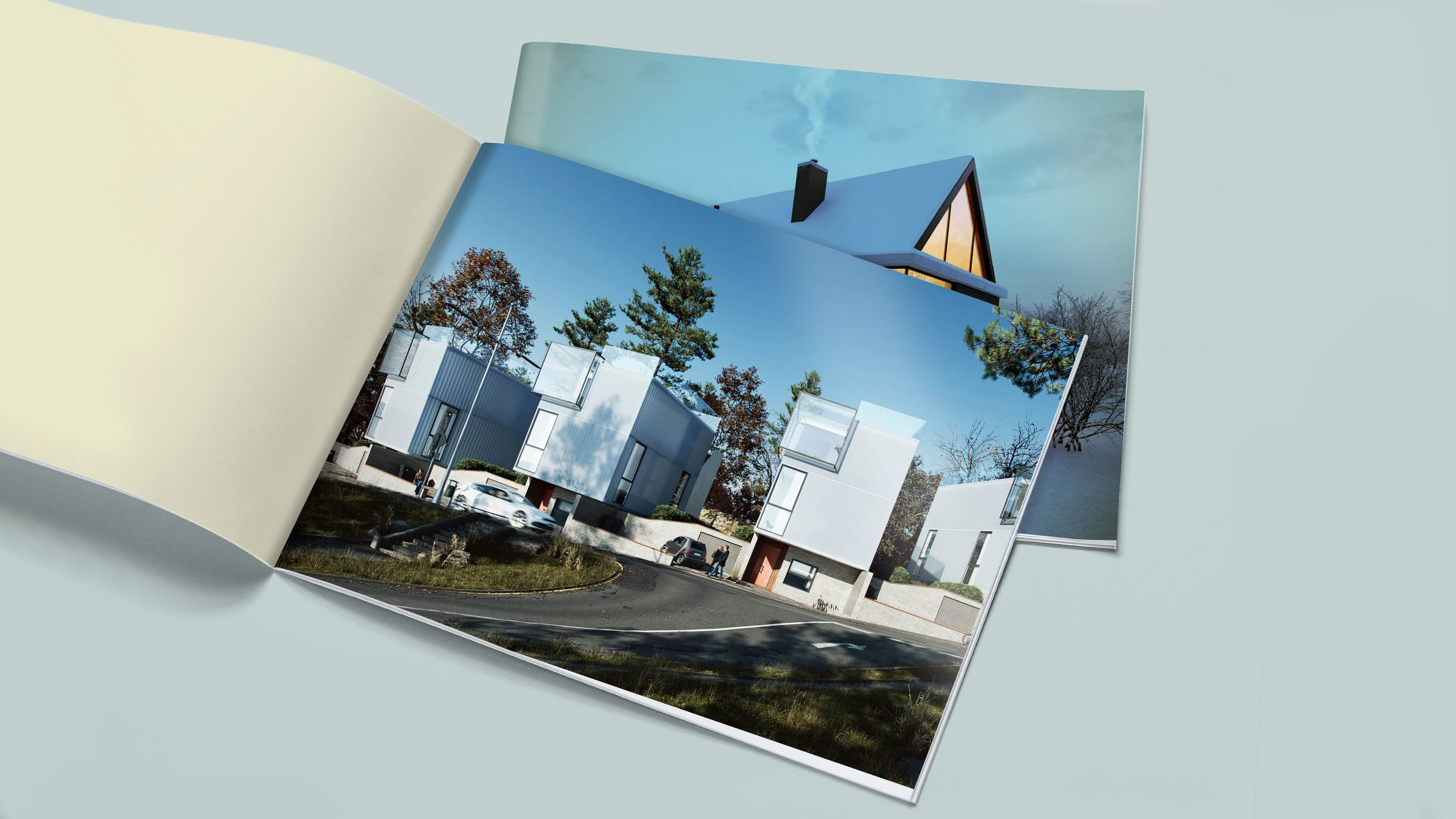 Photorealistic Visualization: a Brochure Advertising Future Real Estate