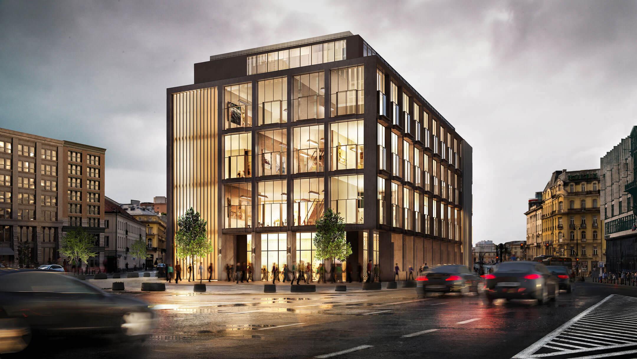 3D Exterior Visualization Of A Modern Business Center