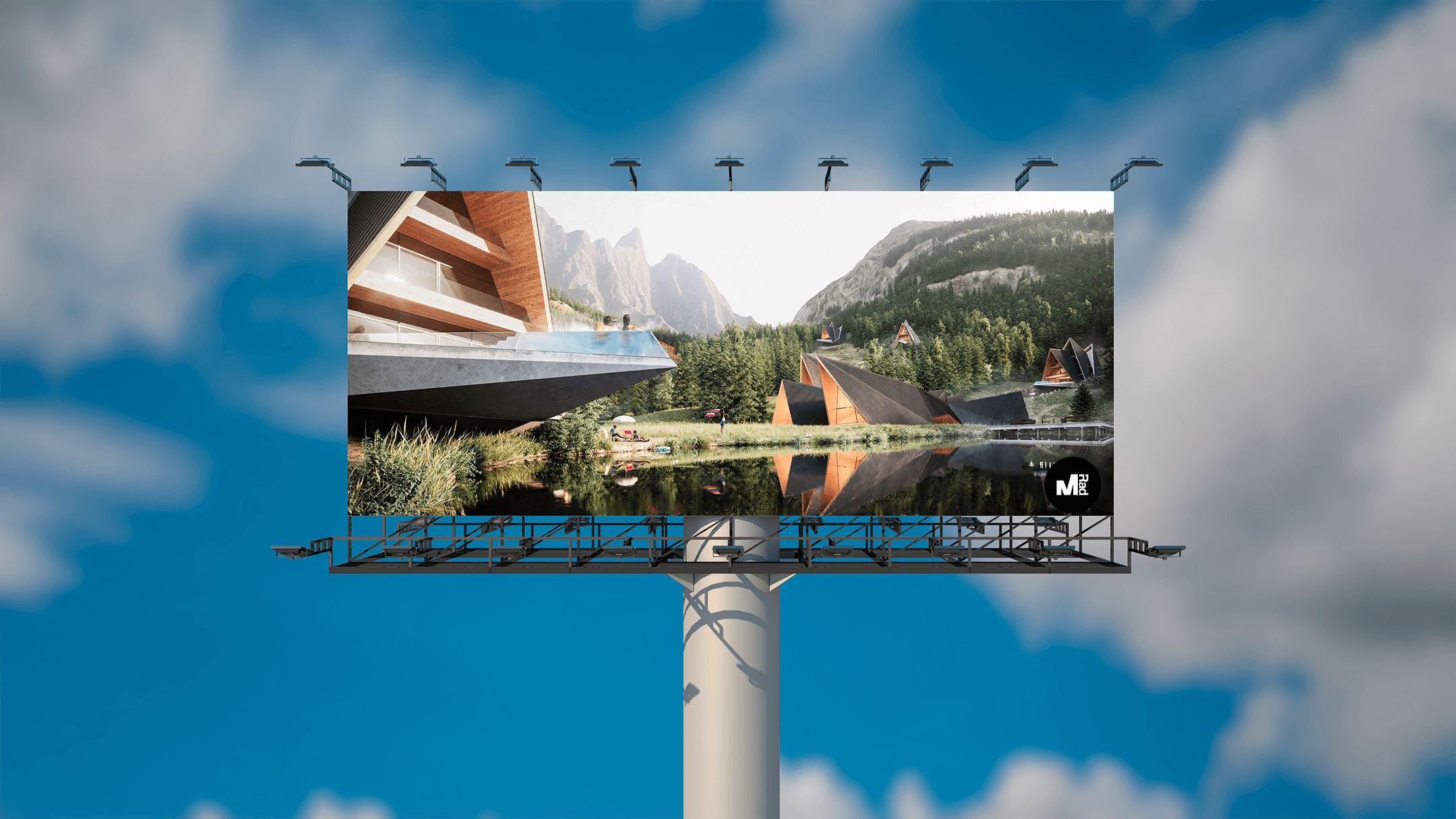 high-quality 3D renders for outdoor ads