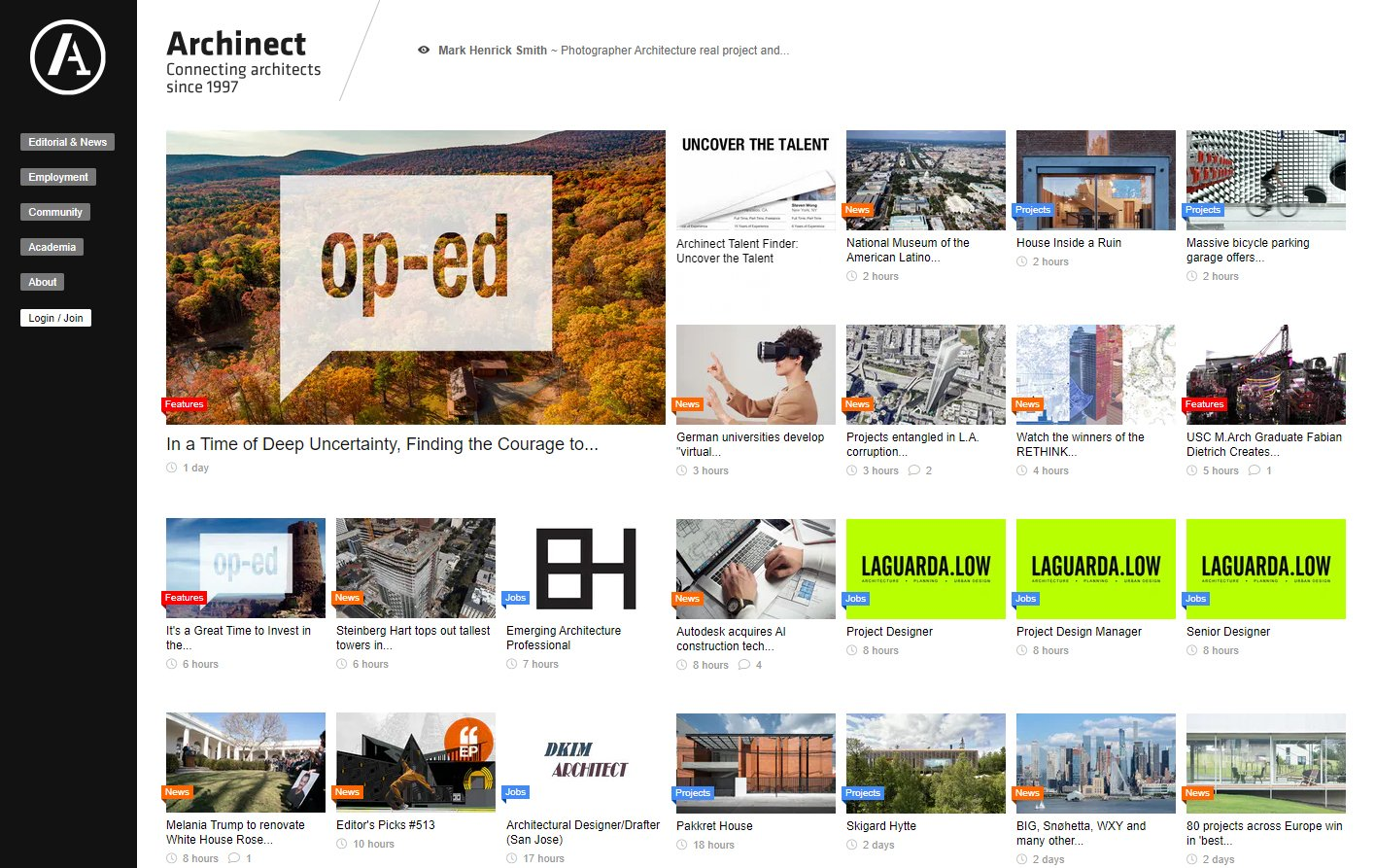 Getting Inspired for Designs on Archinect
