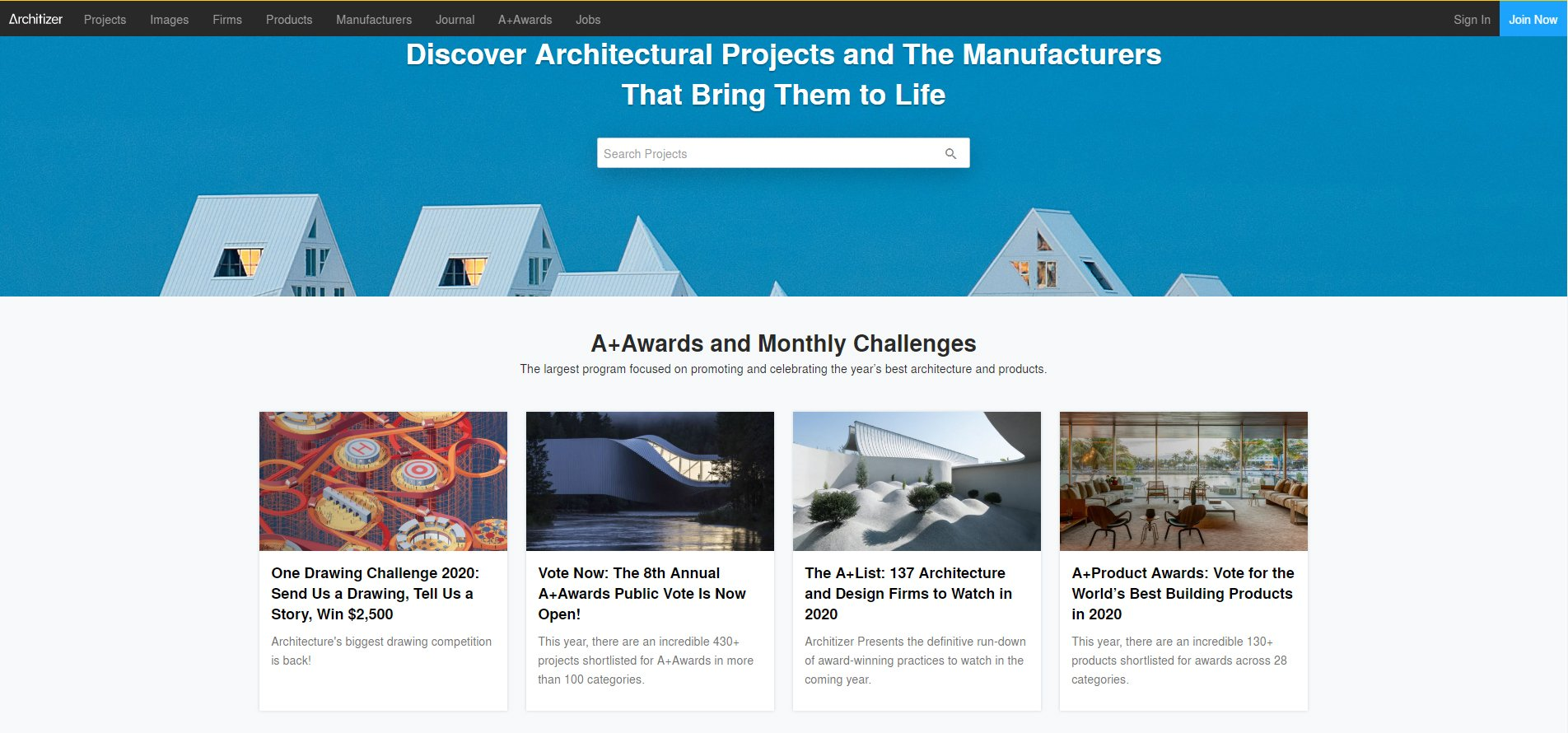 Finding Inspiration for New Projects on Architizer