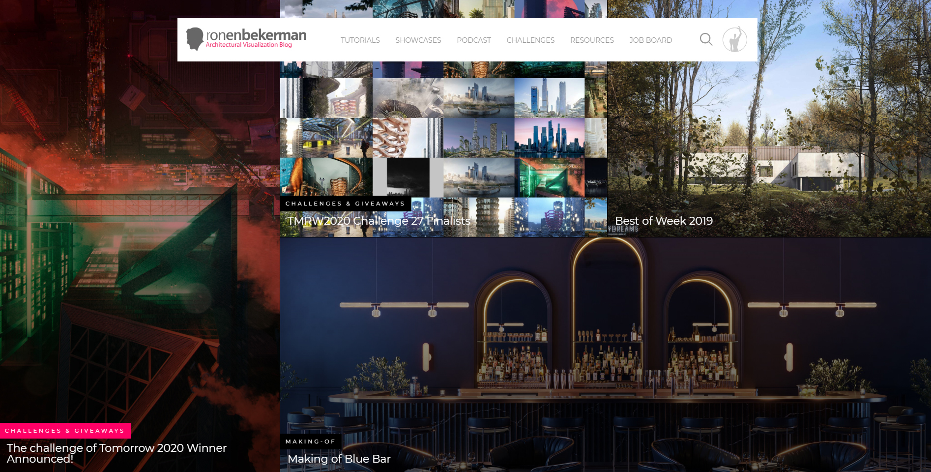Finding Inspiration on Ronenbekerman Website