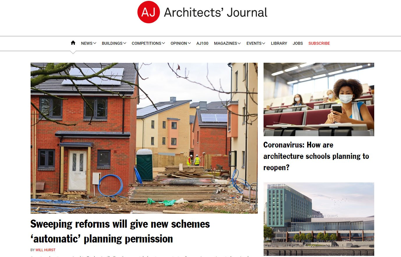 Websites for Architects: AJ