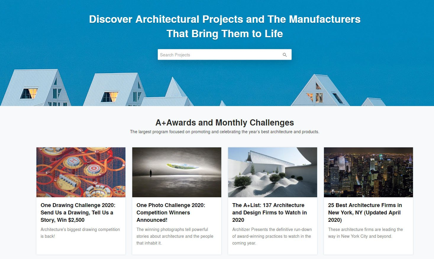 Websites for Architects: Architizer