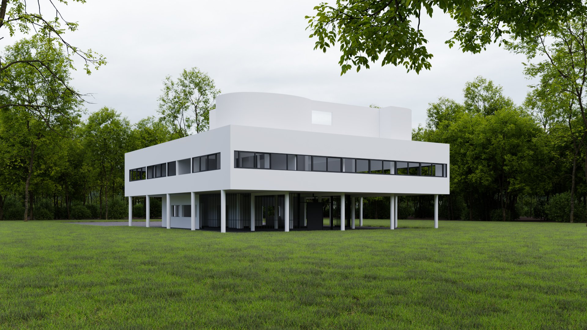 CG Exterior Render Showing a Modern Building in Context