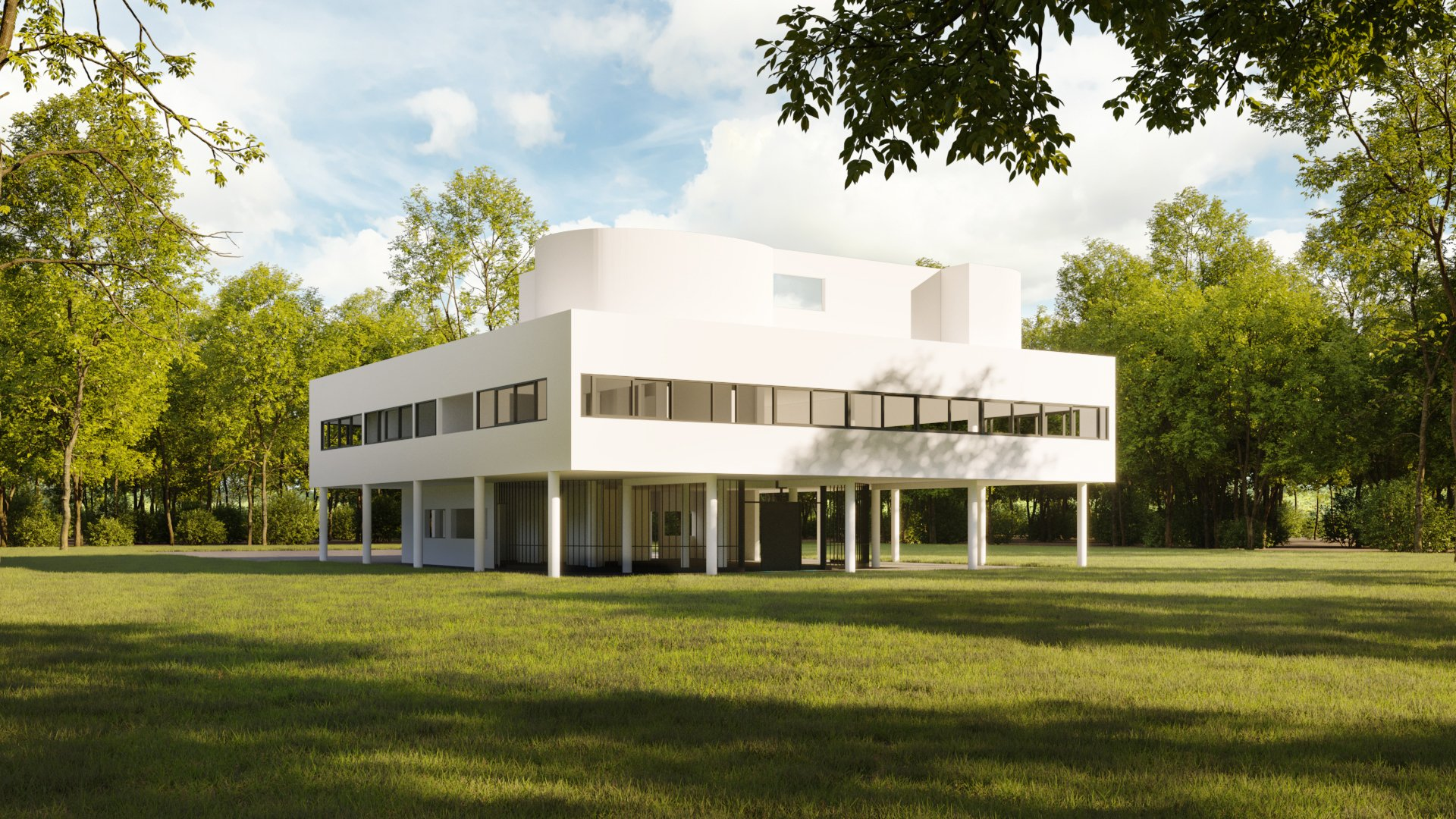 Exterior 3D Architectural Visualization of a Building in Daytime