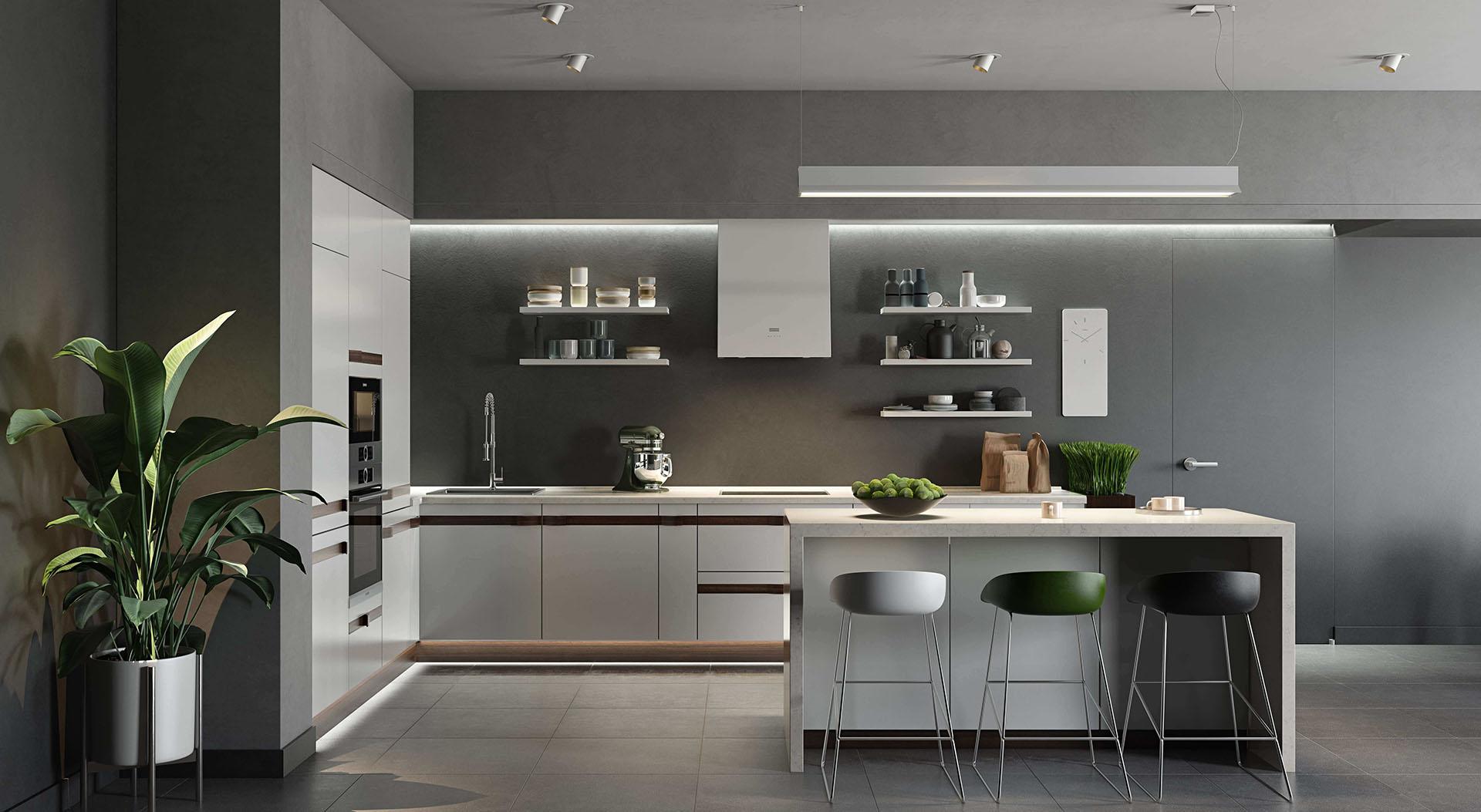 3D Interior Visualization of a Beautiful Kitchen