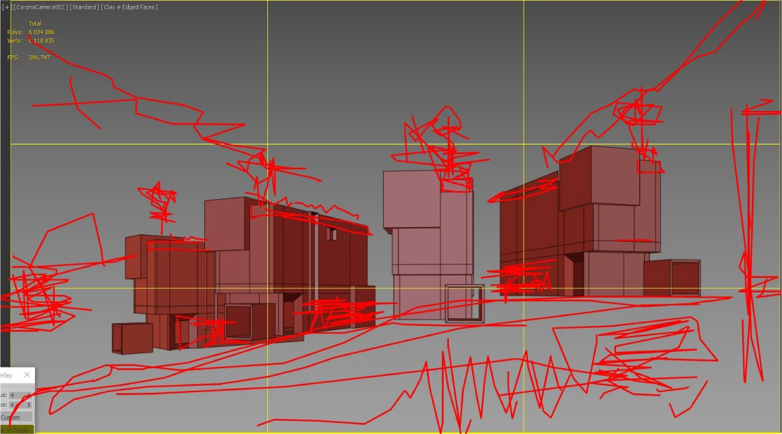 Photorealistic Architectural Renders Preparation: Sketching