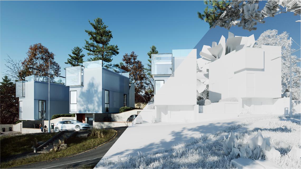 Photorealistic Architectural Renders Scene Creation