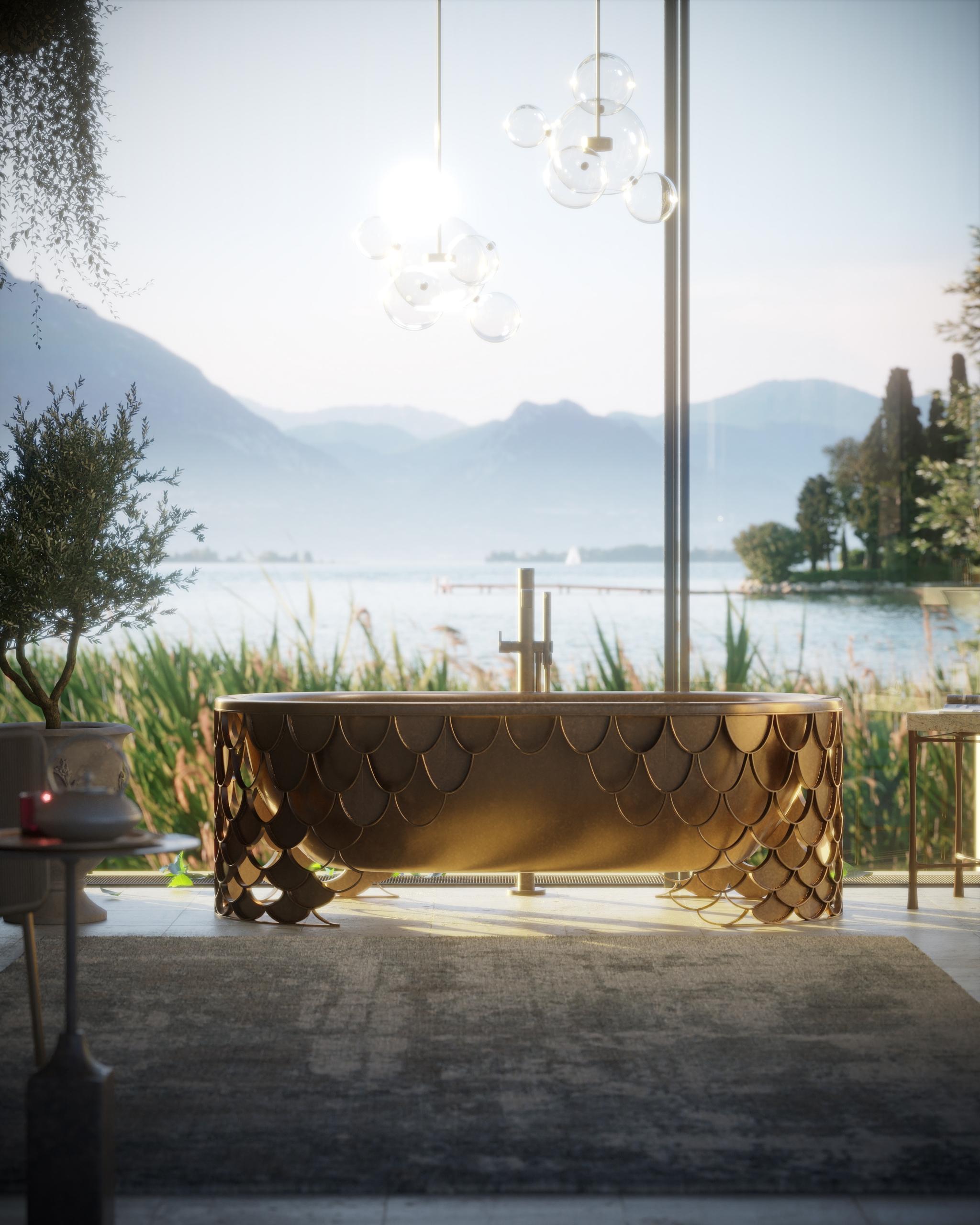 3D Render of a Chich Bathroom Design
