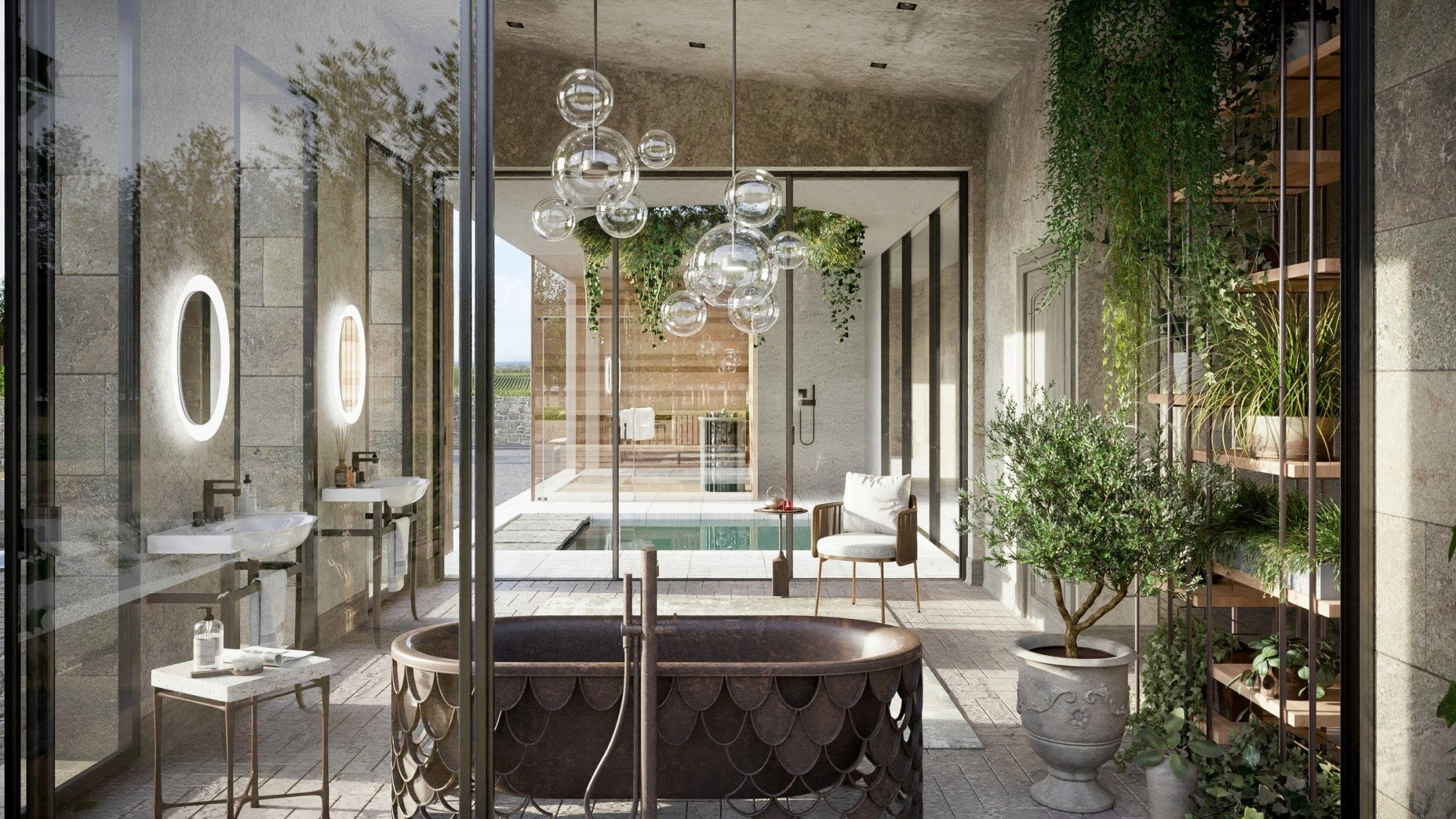 3D Architecture Renders: a Stylish Bathroom