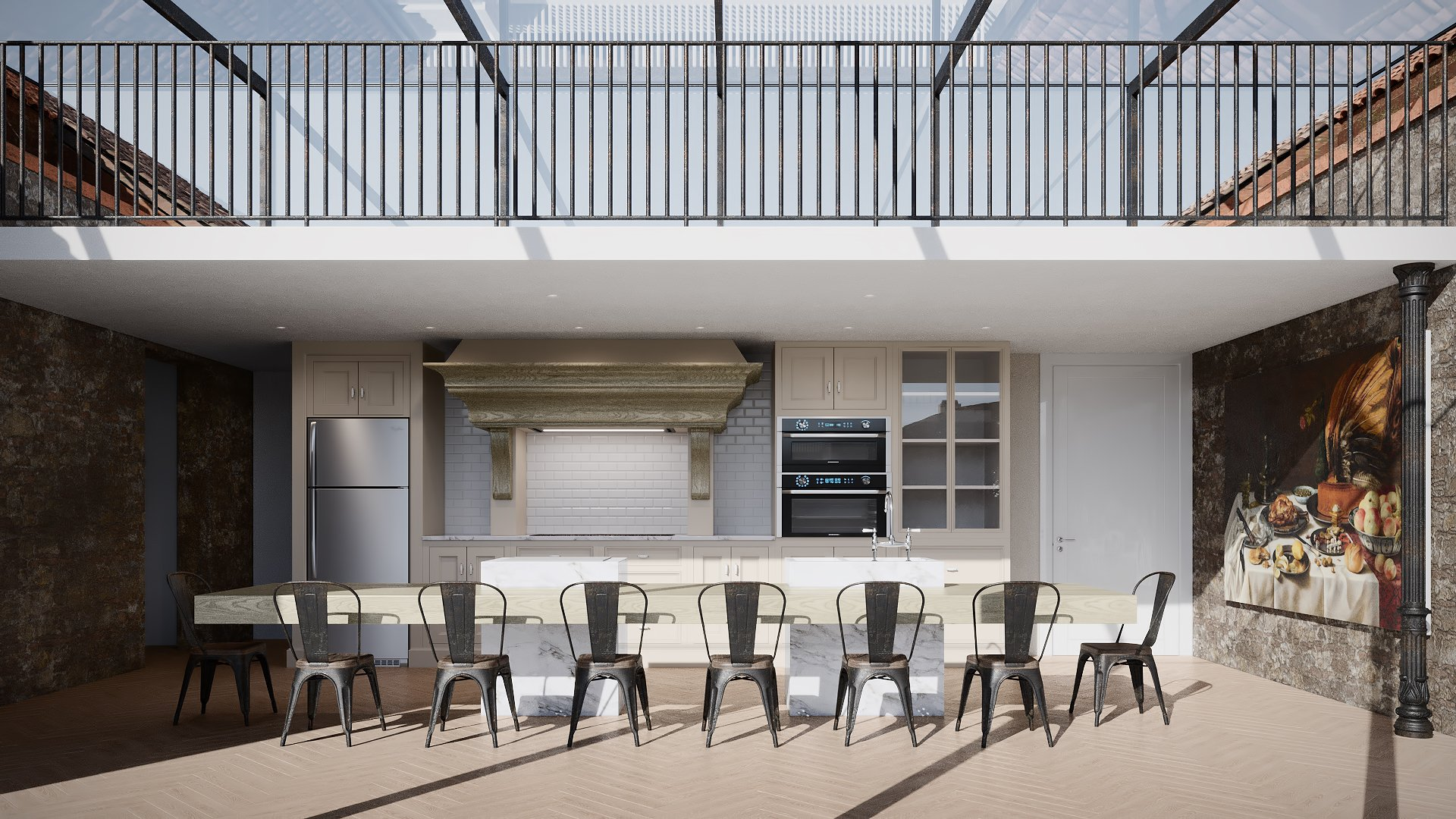 A Raw Draft of a Kitchen Architectural VIsualization