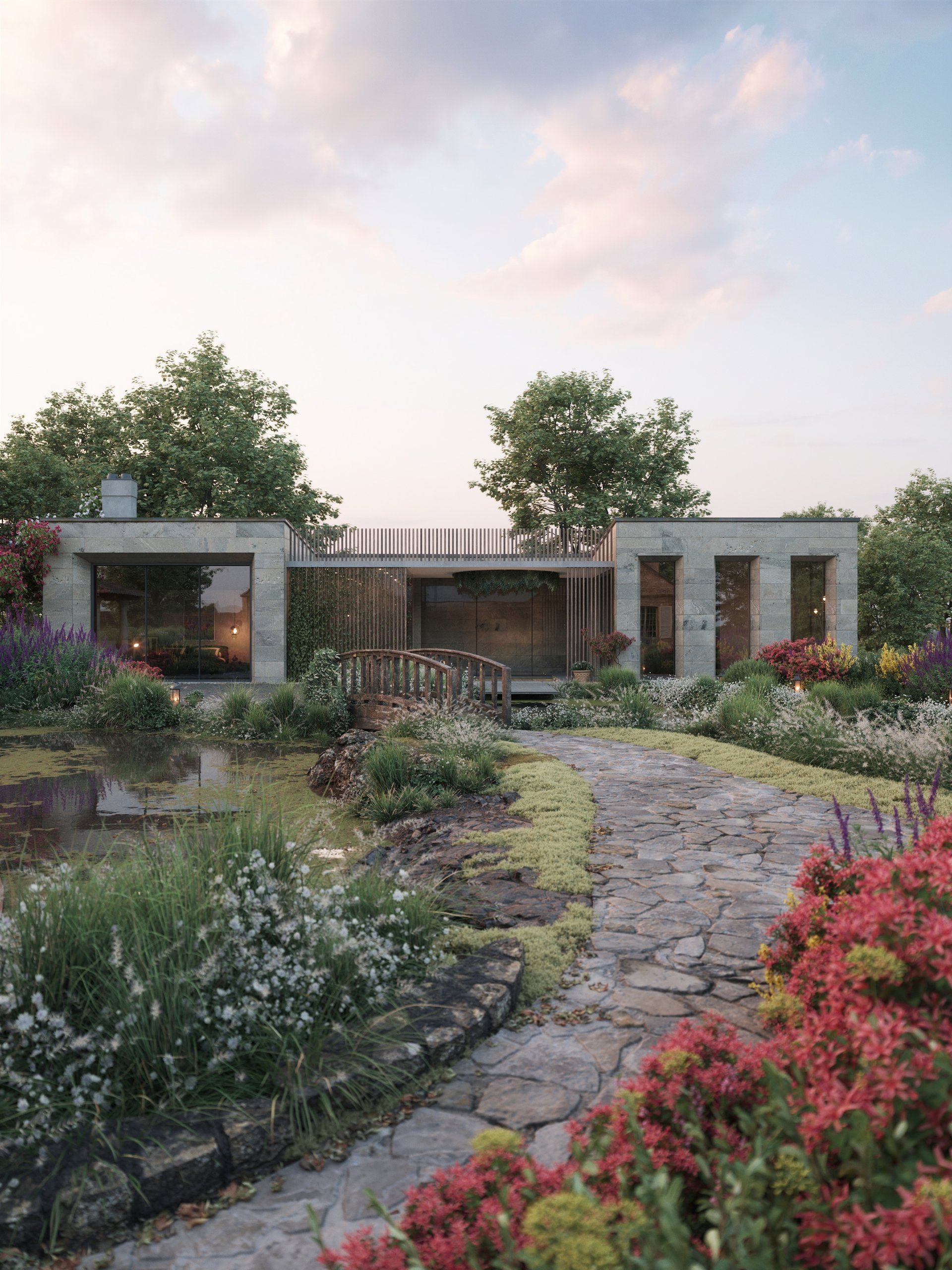 3D Architecture Renders: a Residence in Austria