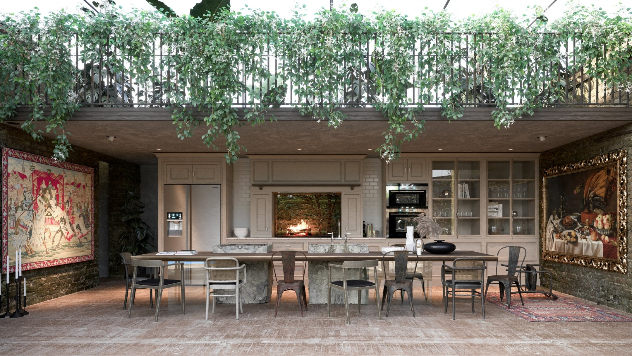 Photorealistic CG Visualization of an Outdoor Kitchen