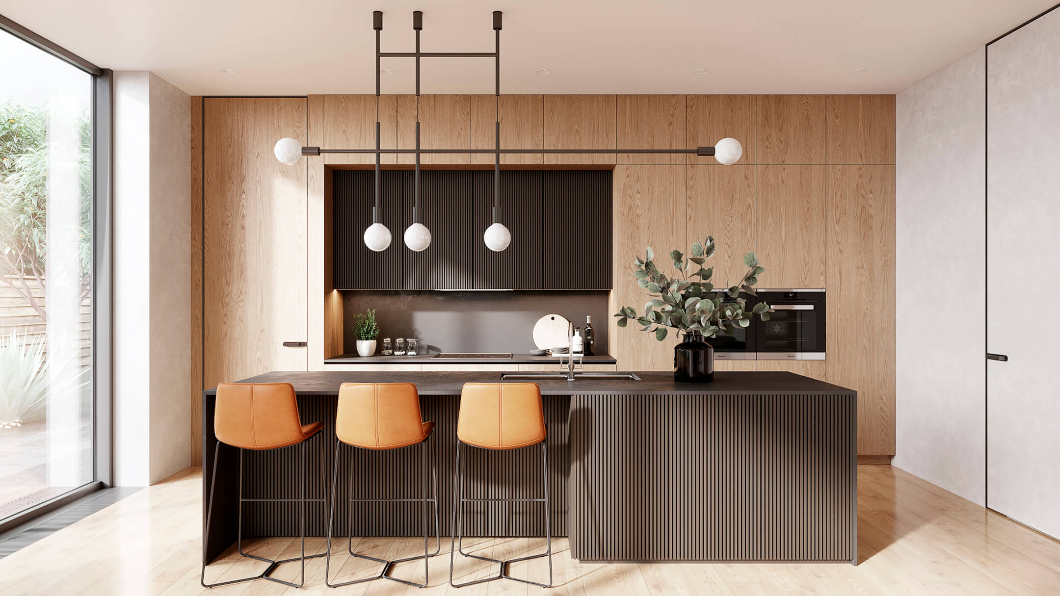 A Photorealistic Render of a Kitchen