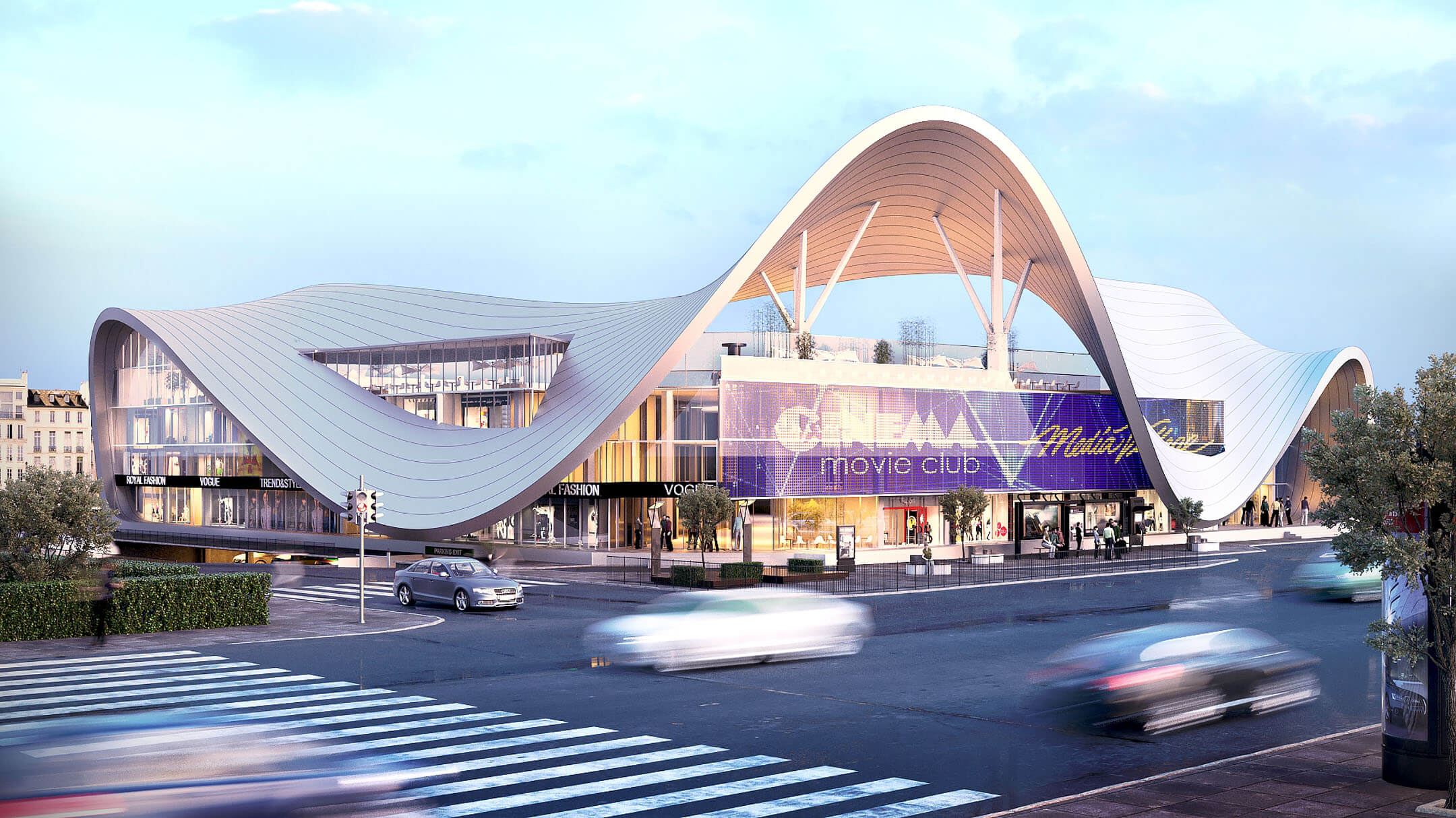Architectural 3D Visualization of a Mall