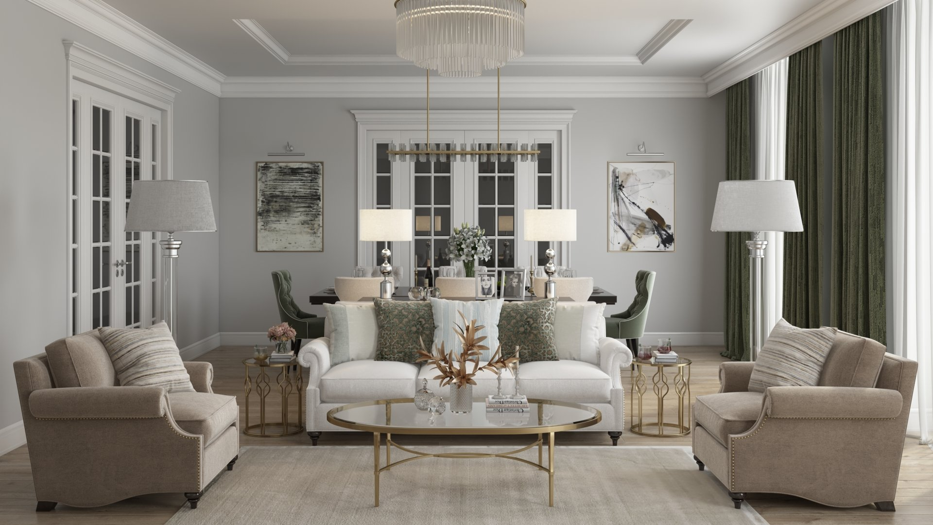 A 3D Interior Visualization without Post-production