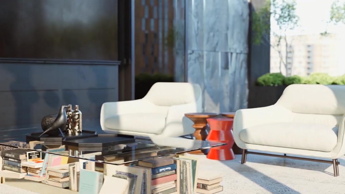3D Walkthrough Screenshot for Closeup on Loft Interior
