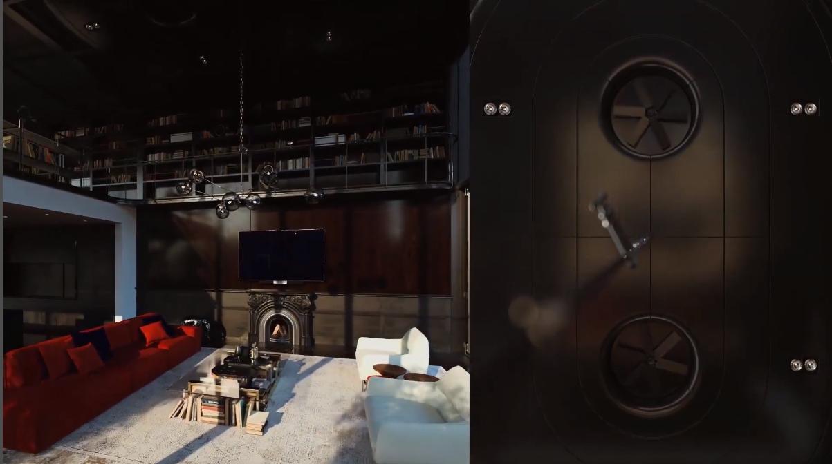 3D Walkthrough Screenshot for Loft Interior Design