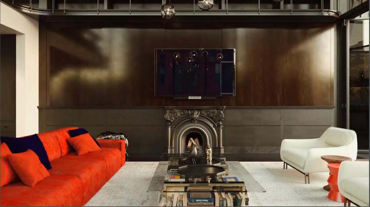 3D Walkthrough Screenshot for Loft Interior