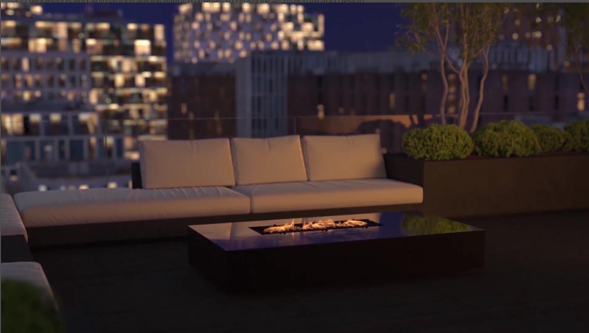 3D Walkthrough Screenshot for a Terrace