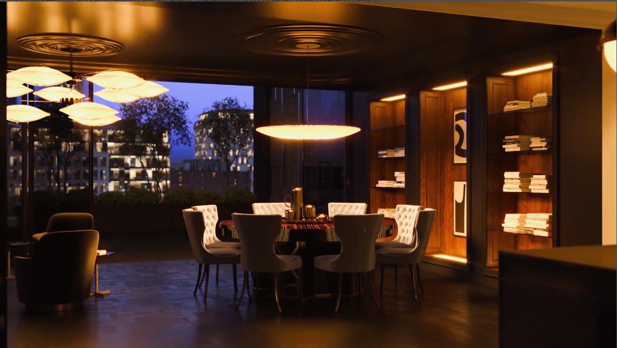 3D Walkthrough Screenshot for a Dining Room